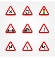 Set of traffic signs warnings vector