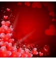 Valentines day card with heart shaped balloons vector
