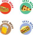 Fast food logo vector