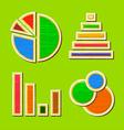 Wooden infographic element design vector
