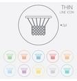 Basketball basket icon sport symbol vector
