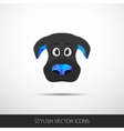 Dog face flat icon vector