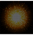 Gold starburst mosaic vector