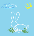 Abstract easter rabbit vector