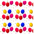 Pattern with balloons on a white background vector