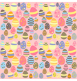 Eastern pink seamless texture with eggs vector