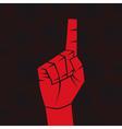 Index finger vector