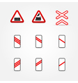 Set of traffic signs vector