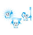 Funny human teeth vector