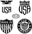 Made in the usa stamps vector
