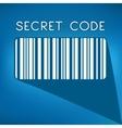 Bar code on blue background vector