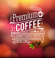 Premium coffee advertising poster typography vector