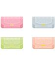 Female handbags in pastel tones vector