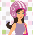 Girl in helmet vector