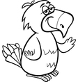 Parrot bird cartoon coloring page vector