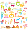 Icon sweet color vector