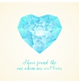 Diamond heart for your design vector