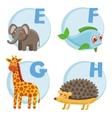 Funny cartoon alphabet vector