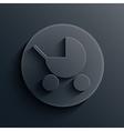 Dark circle icon eps10 vector