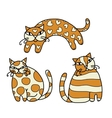 Cute art cats for your design vector
