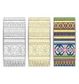 Tribal texture cards vector