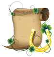 Horseshoe and parchment vector