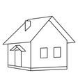 House landscape vector