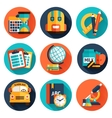 Education flat icons set vector