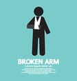 Broken arm graphic symbol vector