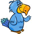 Funny parrot bird cartoon vector
