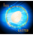 Easter glowing circle border and egg background vector