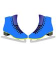 Skates for figure skaters vector