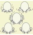 Ribbon frame and border ornaments vector