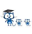 Cat teacher vector