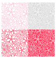 Flowers patterns vector