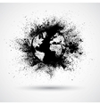 Splattered world black vector