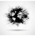 Splattered world black vector