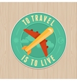Vintage badge - flat icon travel concept vector