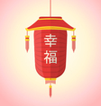 Flat style chinese new year red lantern vector