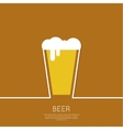 Abstract background with beer glass vector