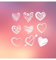 Abstract background with decorative hearts vector
