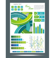 Webpage template vector