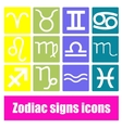 Zodiac signs icons vector
