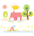 Sweet home colorful vector