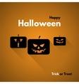 Happy halloween label with pumpkins vector