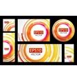Orange circle banner set vector