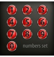 Red round buttons with number vector