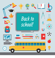 Back to school - set of icons in flat style vector