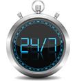 24x7 concept vector