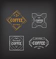 Coffee menu logo template vintage geometric badge vector